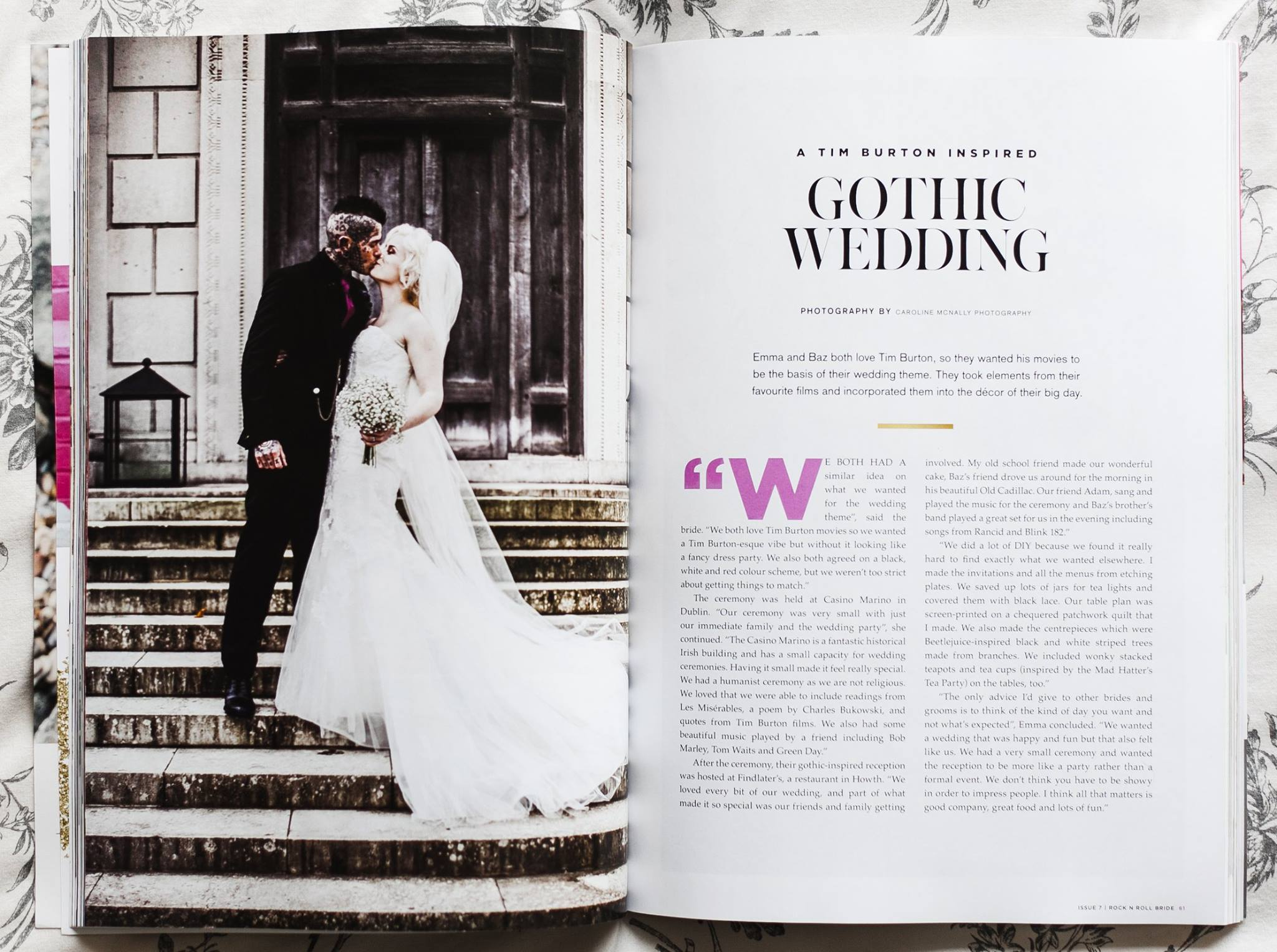 Tim burton inspired Gothic wedding by wild things wed