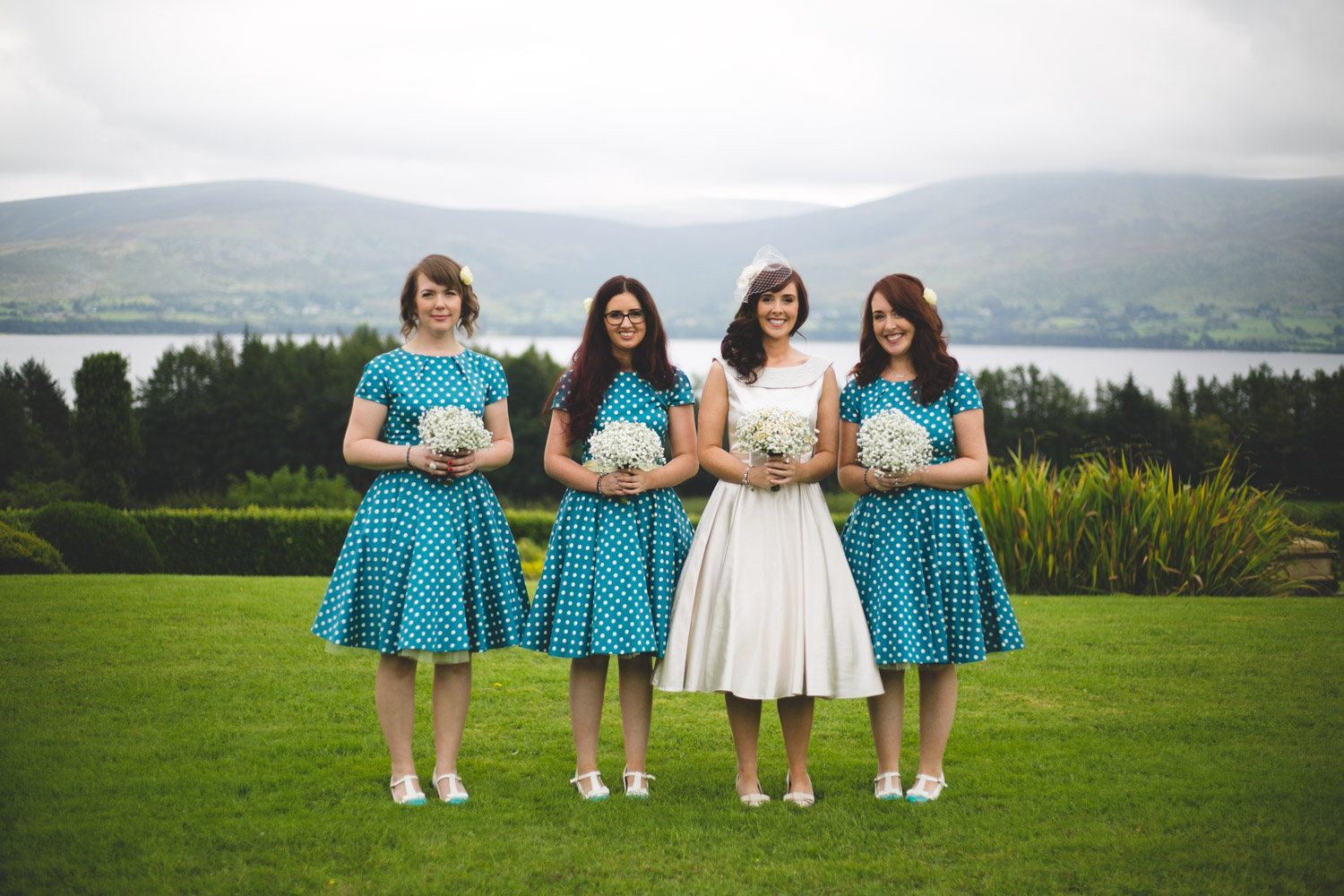 Bridal party portraits at Lakeside BnB Blessington