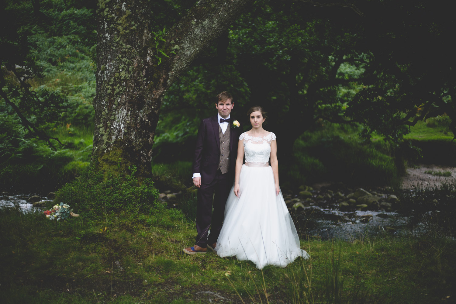 Kippure estate outdoor woodland wedding in Wicklow mountains