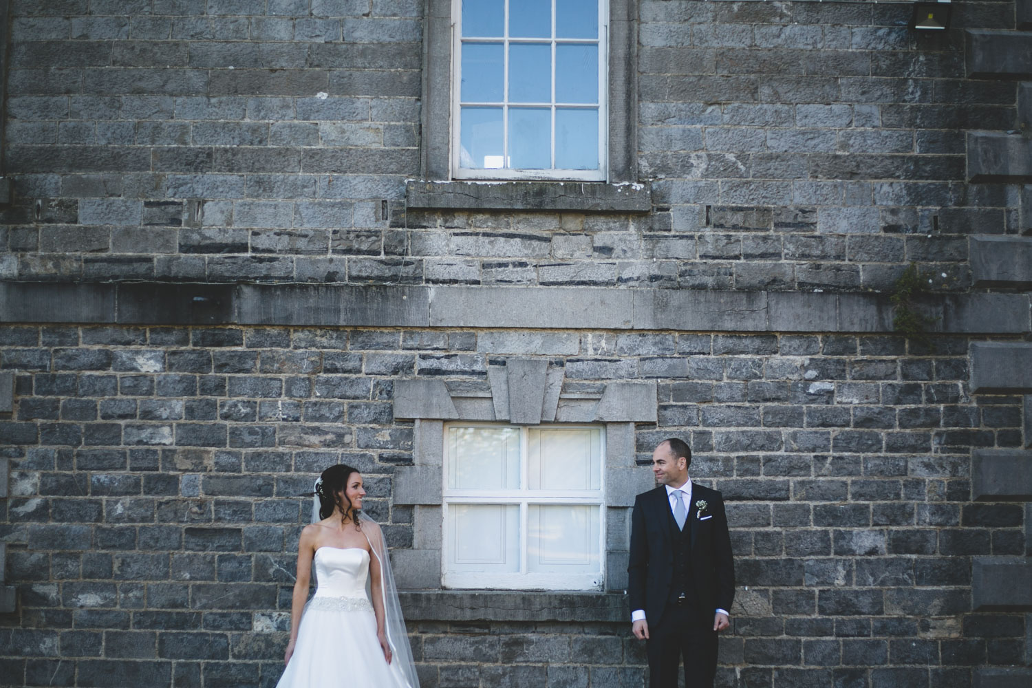 Wedding couple pose at the Millhouse Slane venue meath