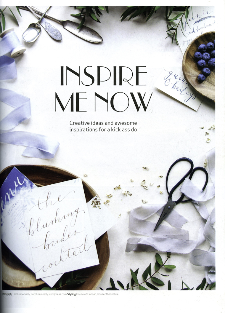 Confetti Magazine Feature with House of Hannah 'Inspire me now'