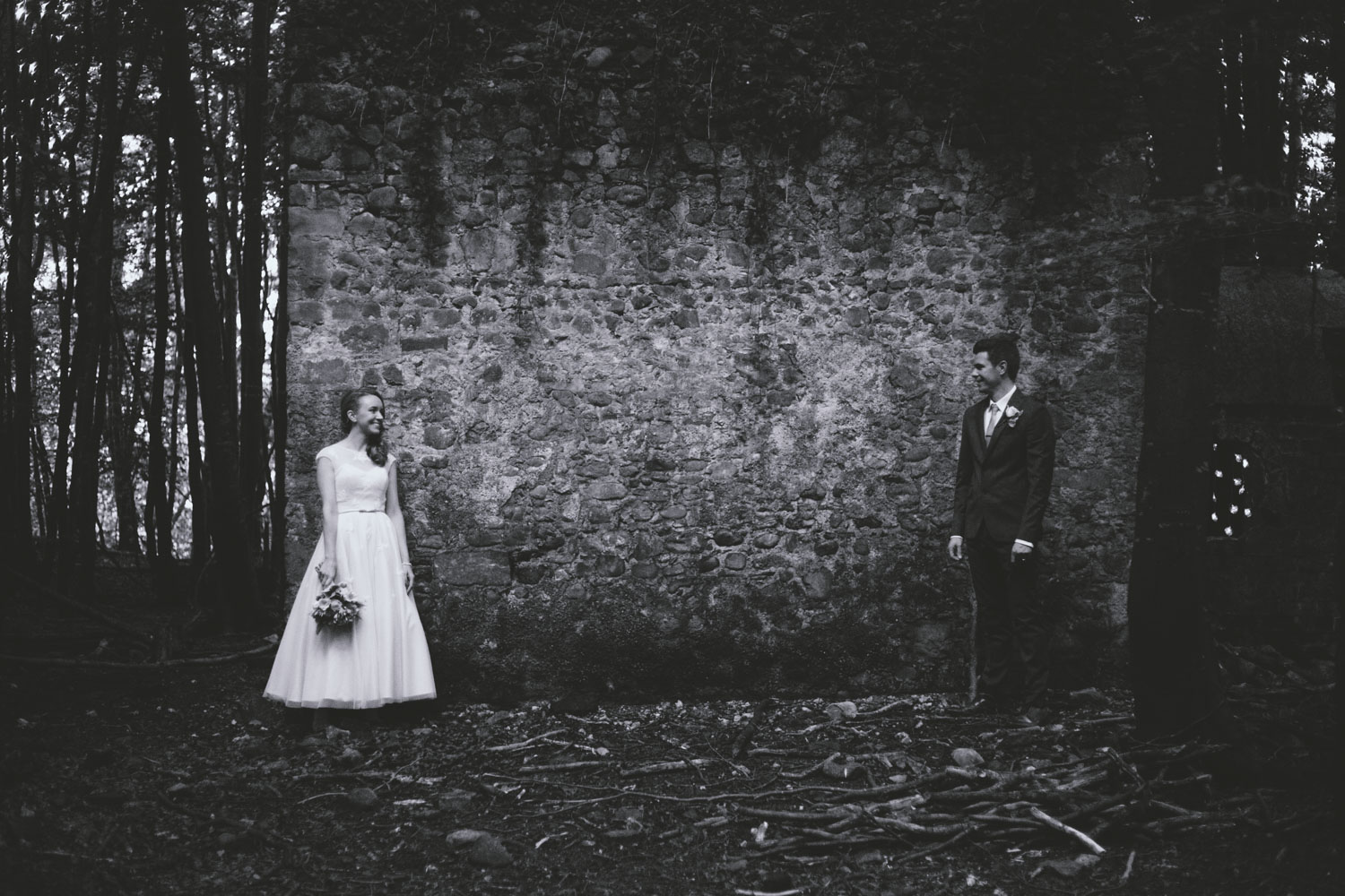 Irish woodland wedding at Kilyon Manor
