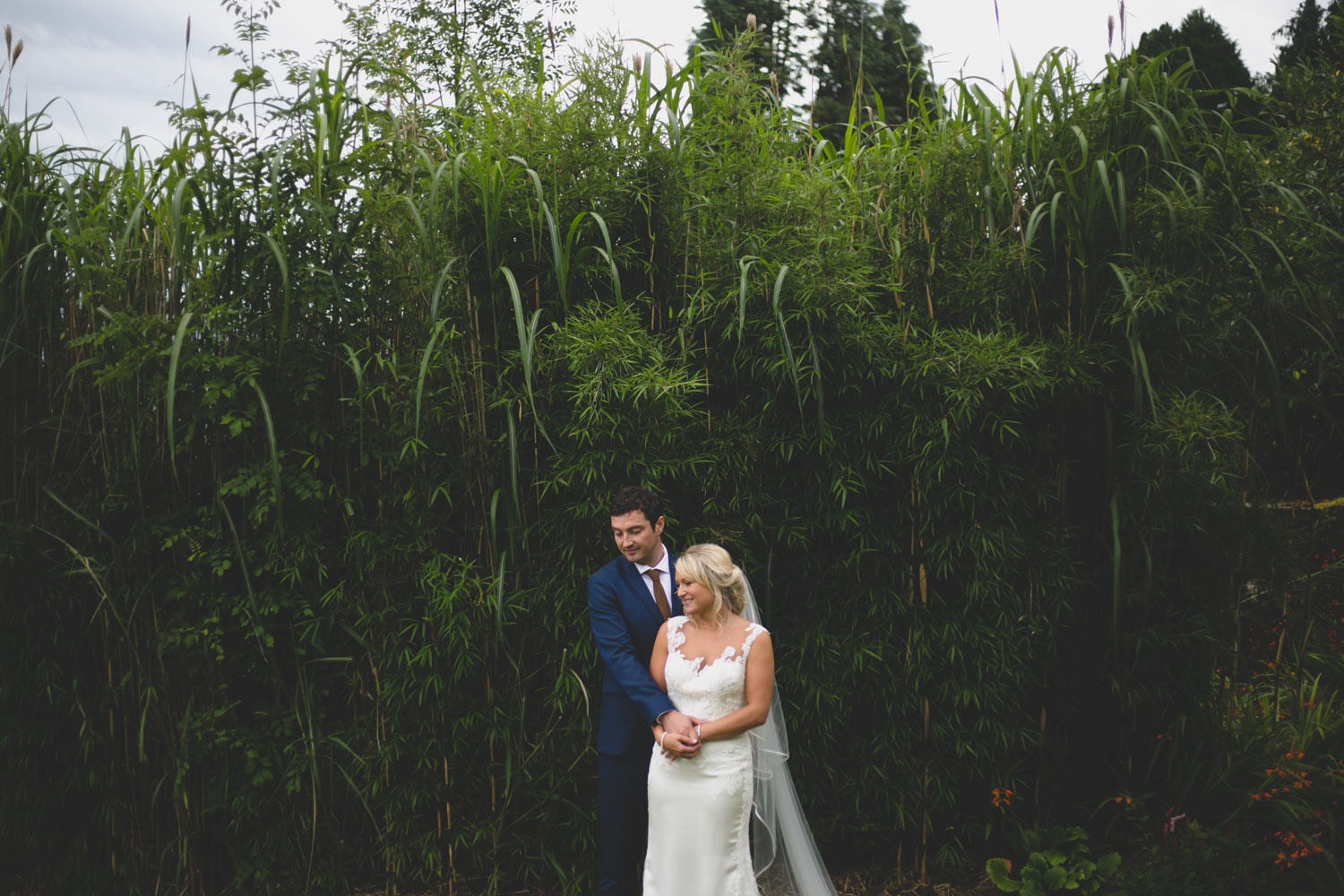 beautiful bamboo plants and greenery at Ballybeg wedding venue