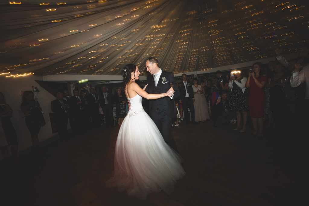 First dance at the Millhouse in Slane Marquee