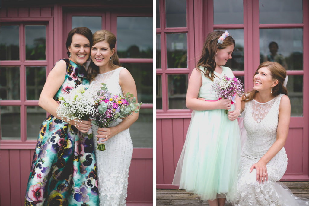 beautiful portraits smiling bridesmaids