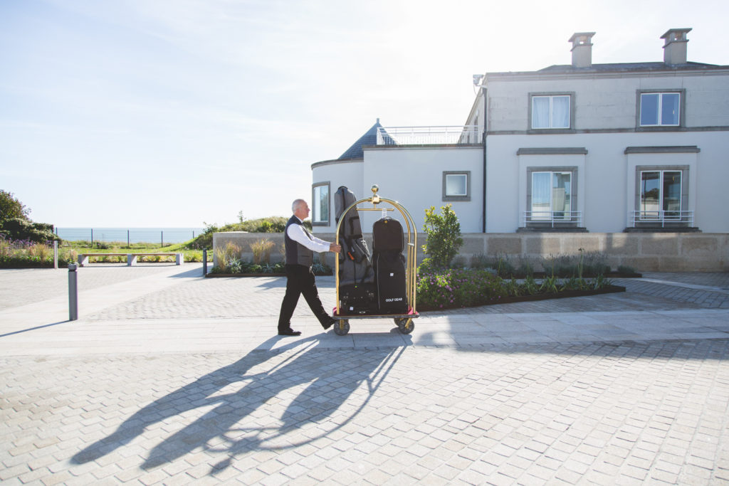 Luggage door porter at Portmarnock Hotel