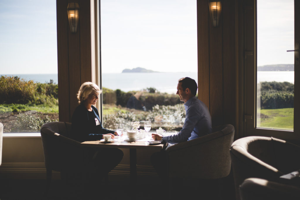 Portmarnock hotel and golf links afternoon tea in the Seaview restaurant