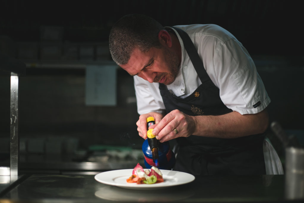 Chef tom Walsh at the Portmarnock hotel restaurant