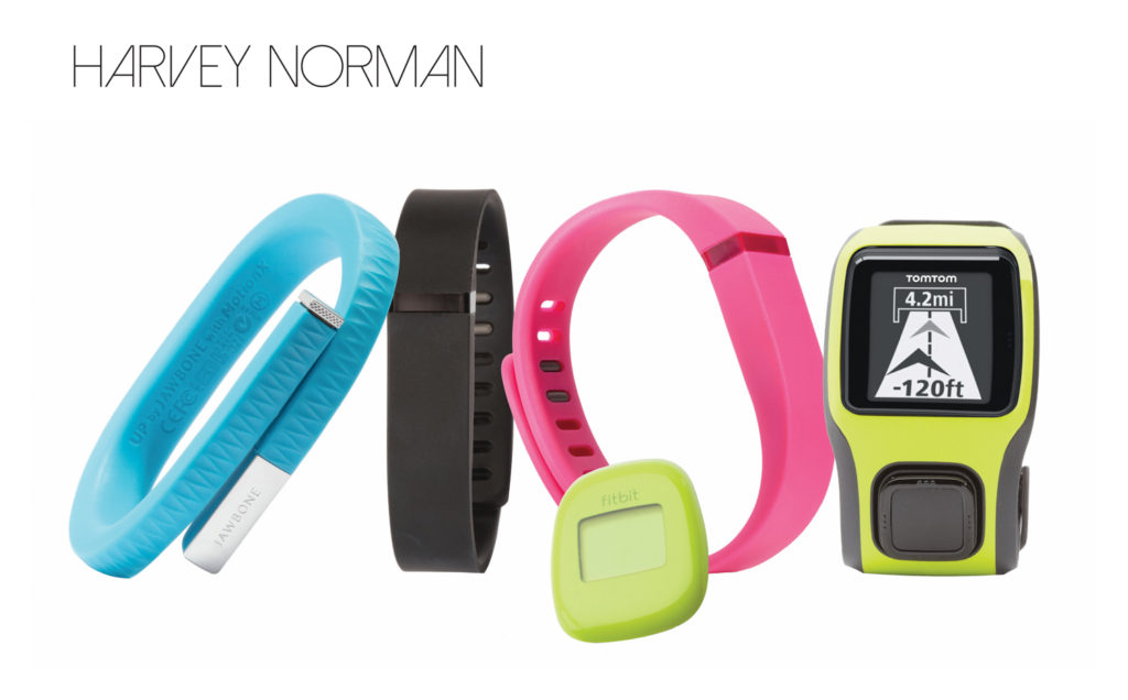 Harvey Norman tom tom and fit bit fitness gadgets