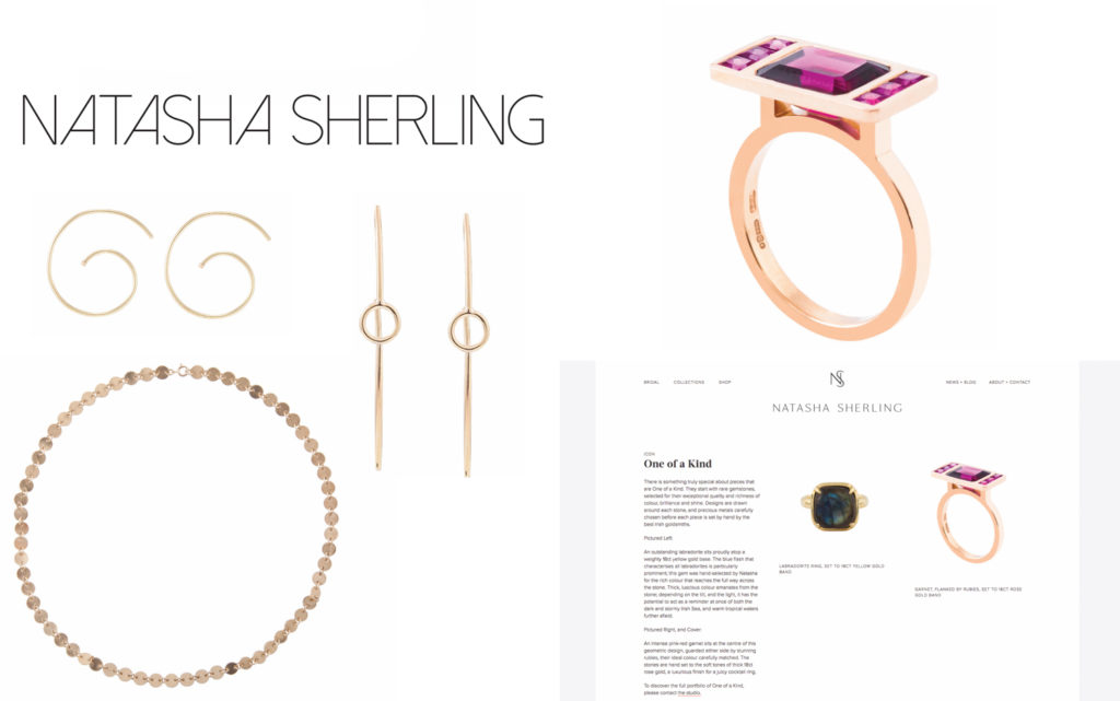 Natasha sherling jewellery product photography