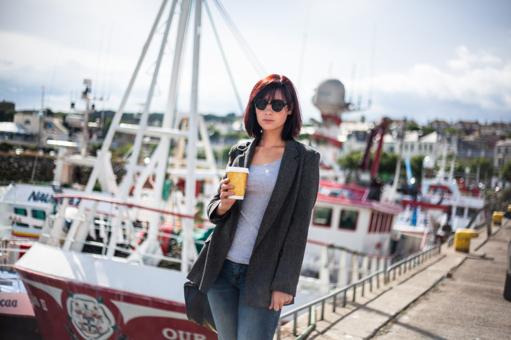 Stock photography of a female model in Howth by Caroline Mc Nally photography