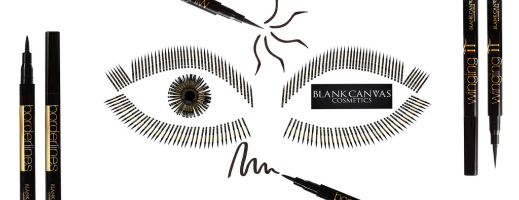 Borderlines and winging it eyeliner in the shape of an eye Blank Canvas Cosmetics