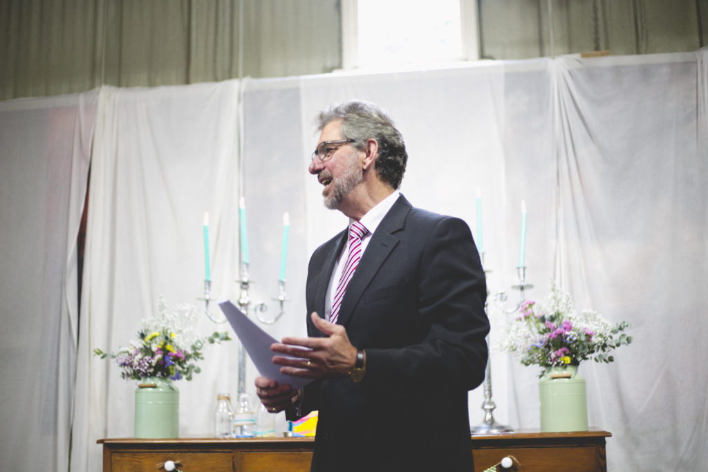 Humanist celebrant Philip Byers