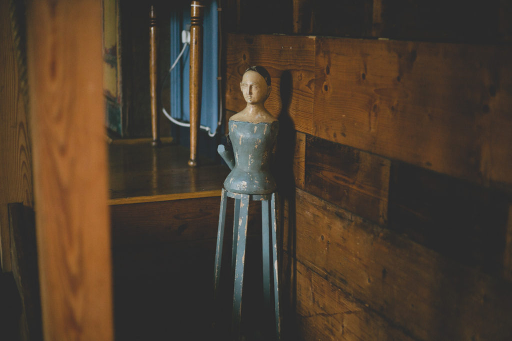 creepy antique dress form