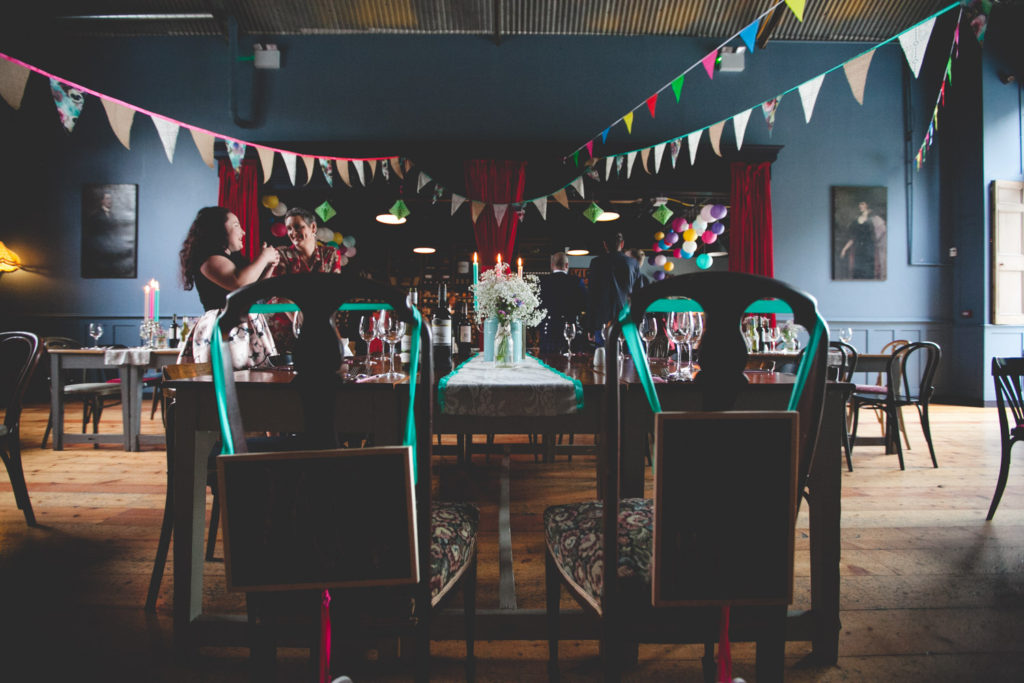 Mount druid's festive bunting filled dinning hall