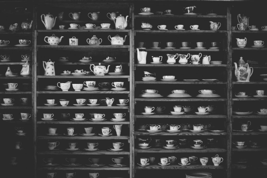 Mount druid's lovely tea cup and pot display
