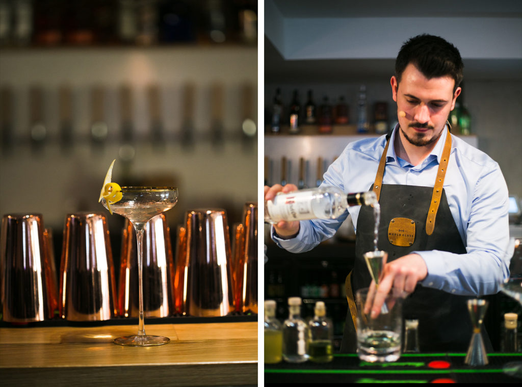 Cocktail making demo at World Class Bartending Ireland