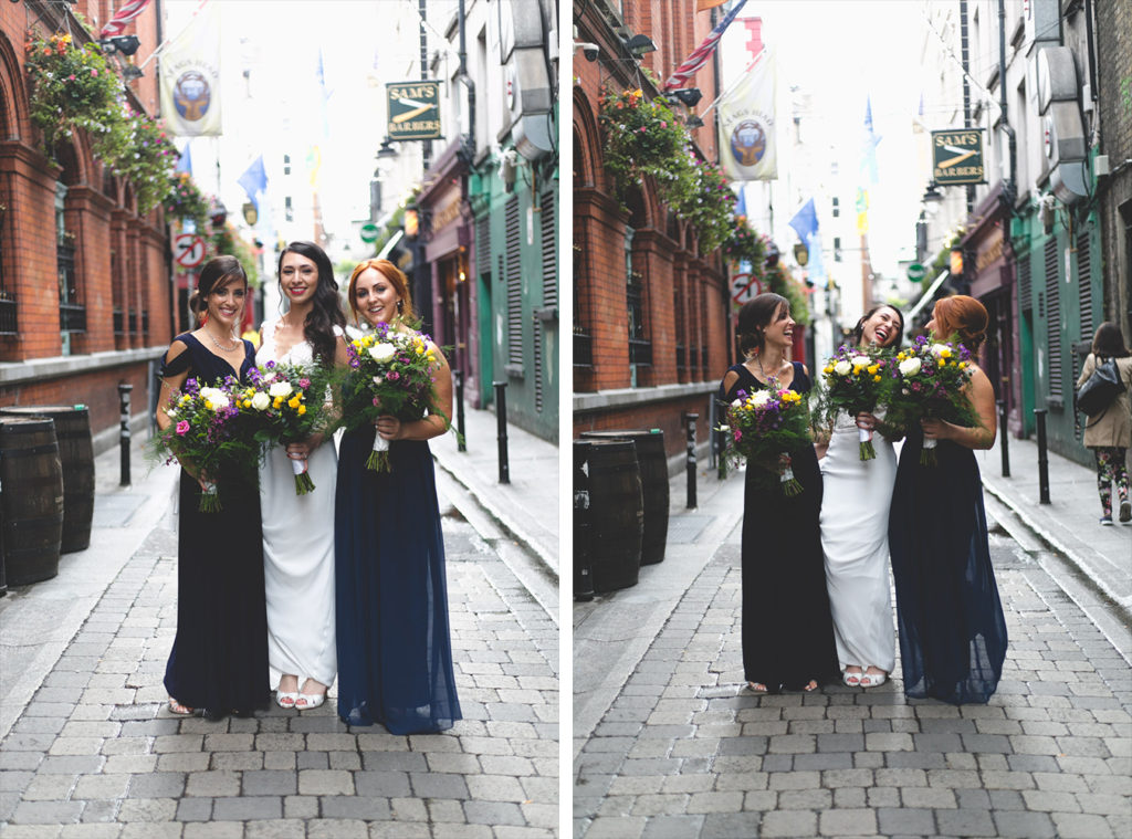 Dame Lane bridesmaids and bride portrait