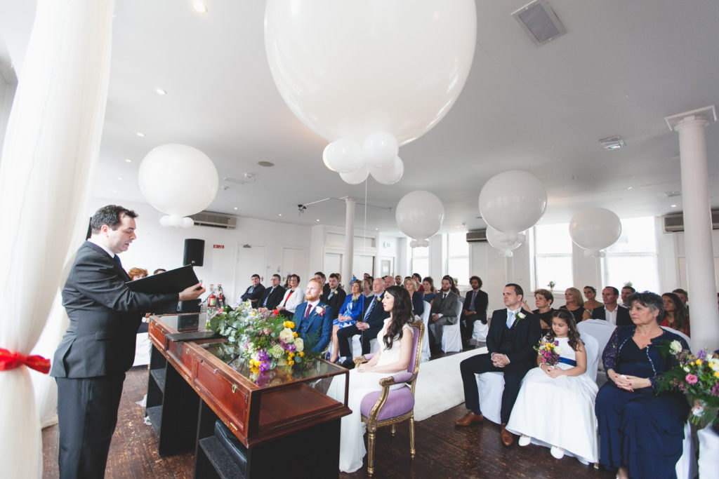 Ceremony Room at Dublin city centre wedding venue
