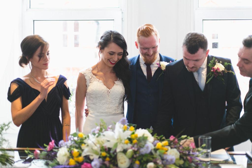 wedding party humanist wedding