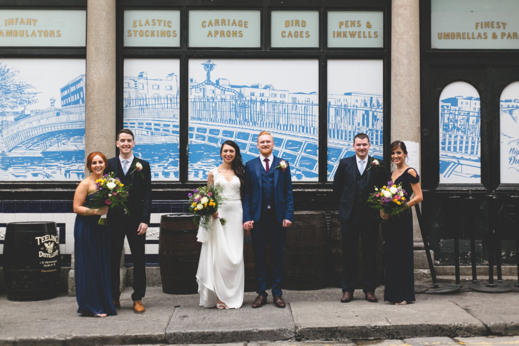 Navy coloured bridal party