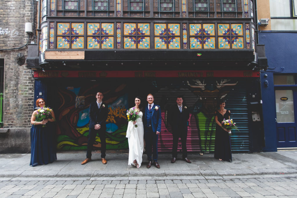 Dame lane wedding graffiti