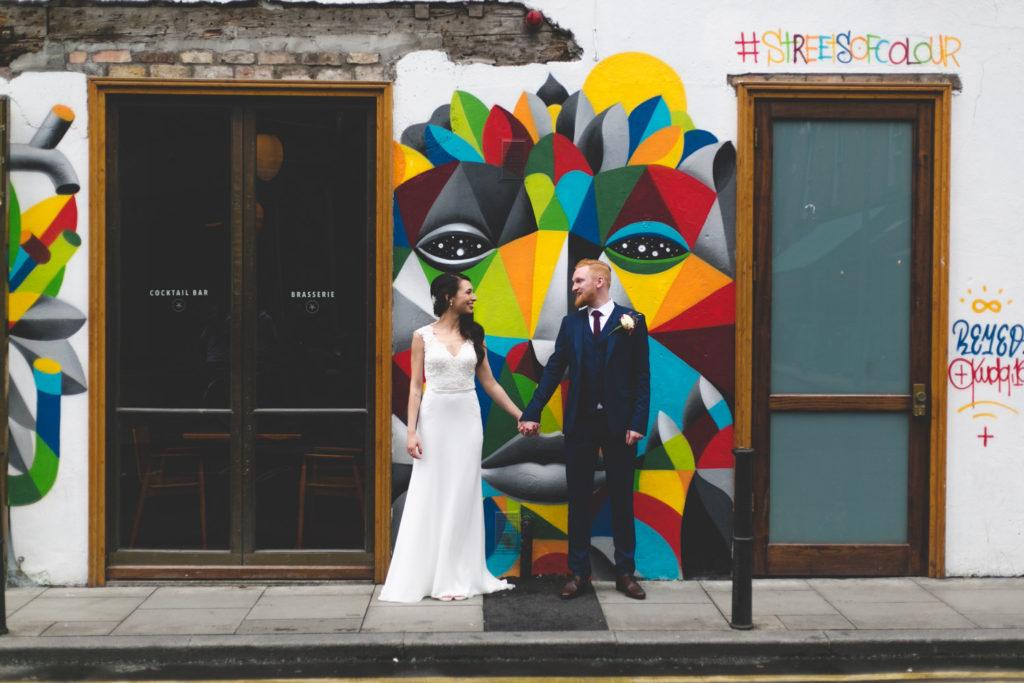 Graffiti at Drury Buildings wild things wed wedding photography