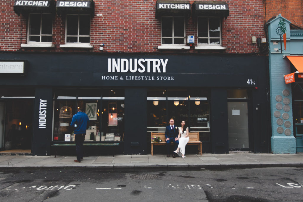 wedding portrait at Industry home and lifestyle store Dublin