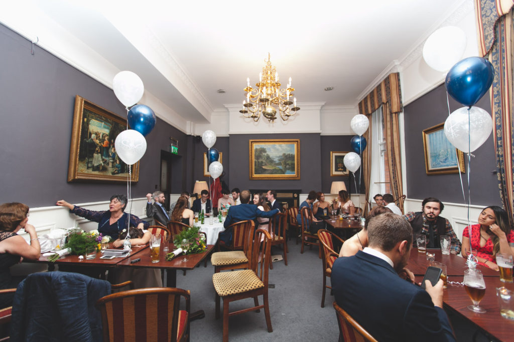 wedding reception venue at central hotel bar dublin