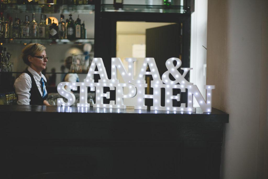 Light up name sign