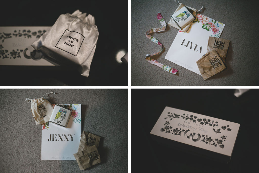 Thoughtful personalised gifts for bridesmaids on wedding day