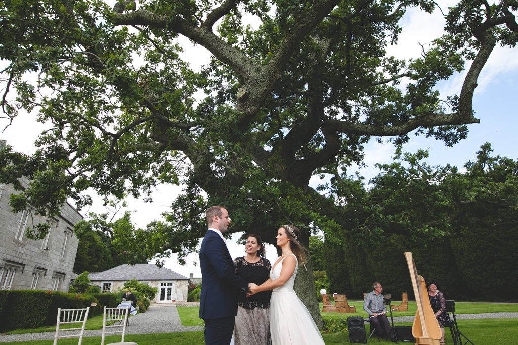 outdoor ceremony location in lisnavagh house