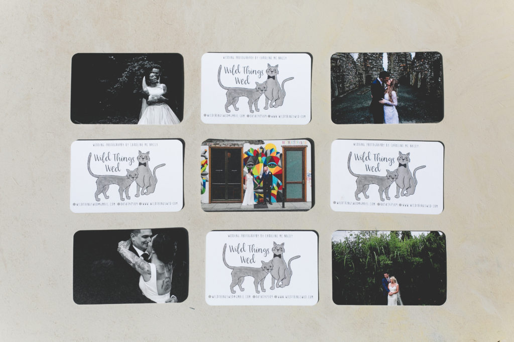 MOO eco round edged business cards for Wild Things Wed