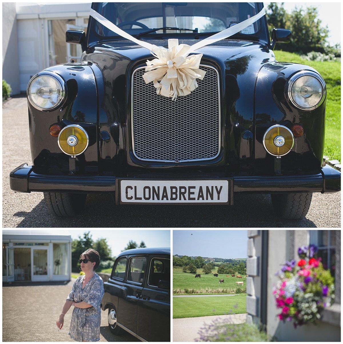 Clonabreany House's Black wedding car