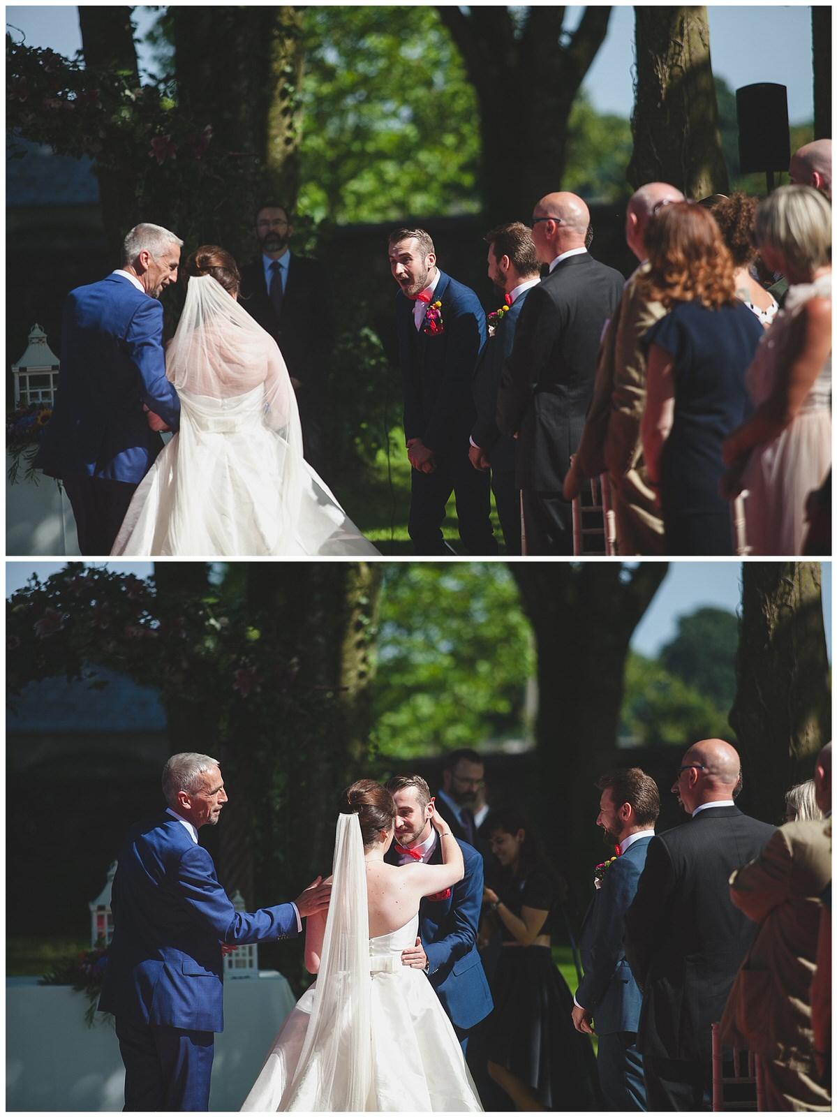 Groom has the best reaction ever after seeing his bride arrive
