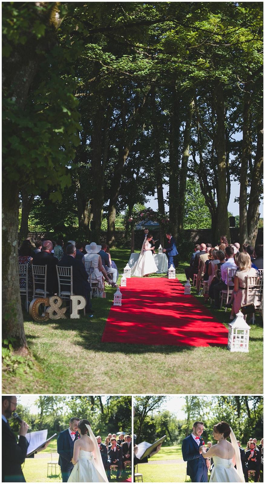 Clonabreany House Wedding Outdoor Garden Ceremony