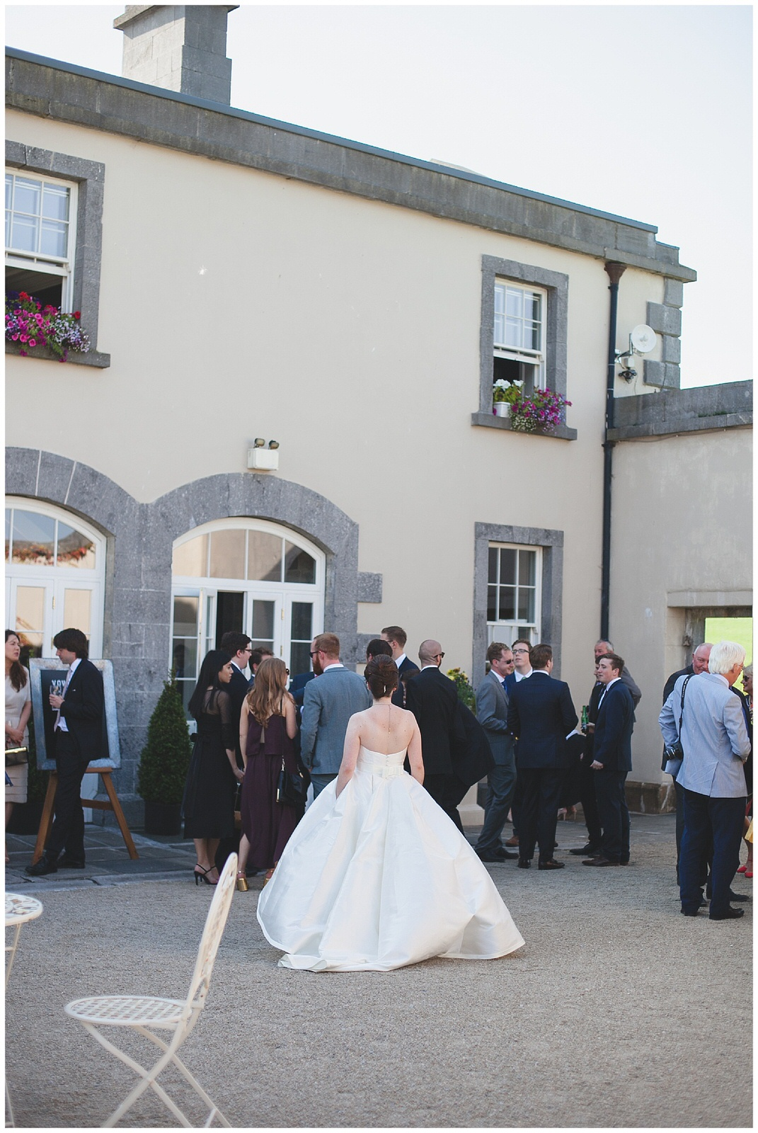 Courtyard reception at Clonabreany