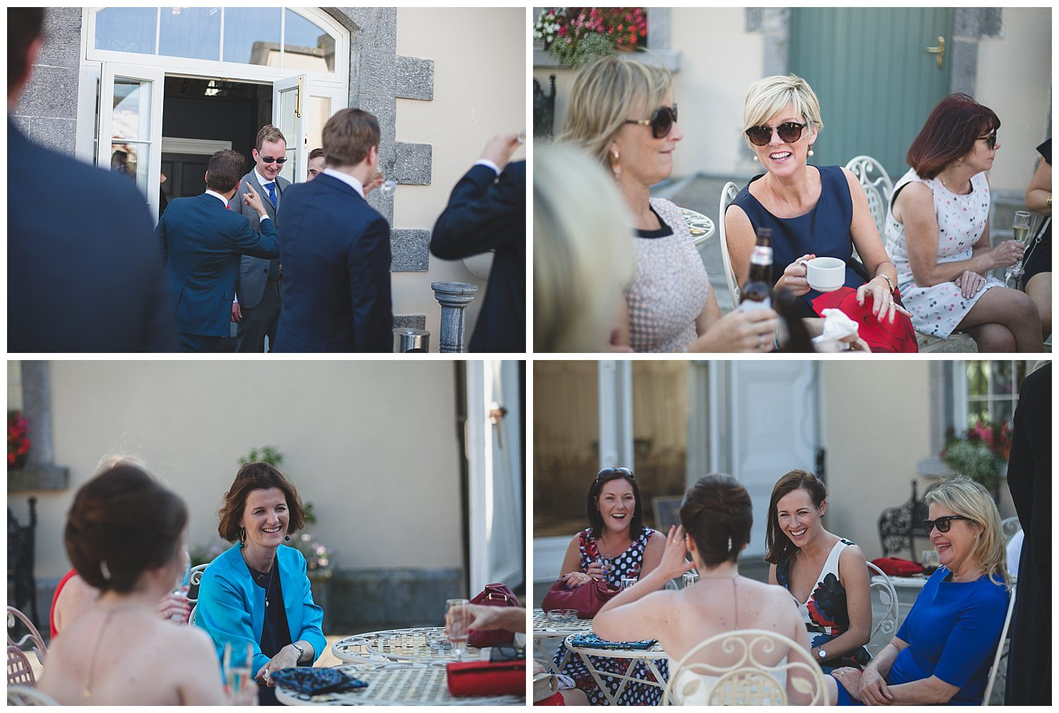 Natural snaps of guests enjoying the drinks reception