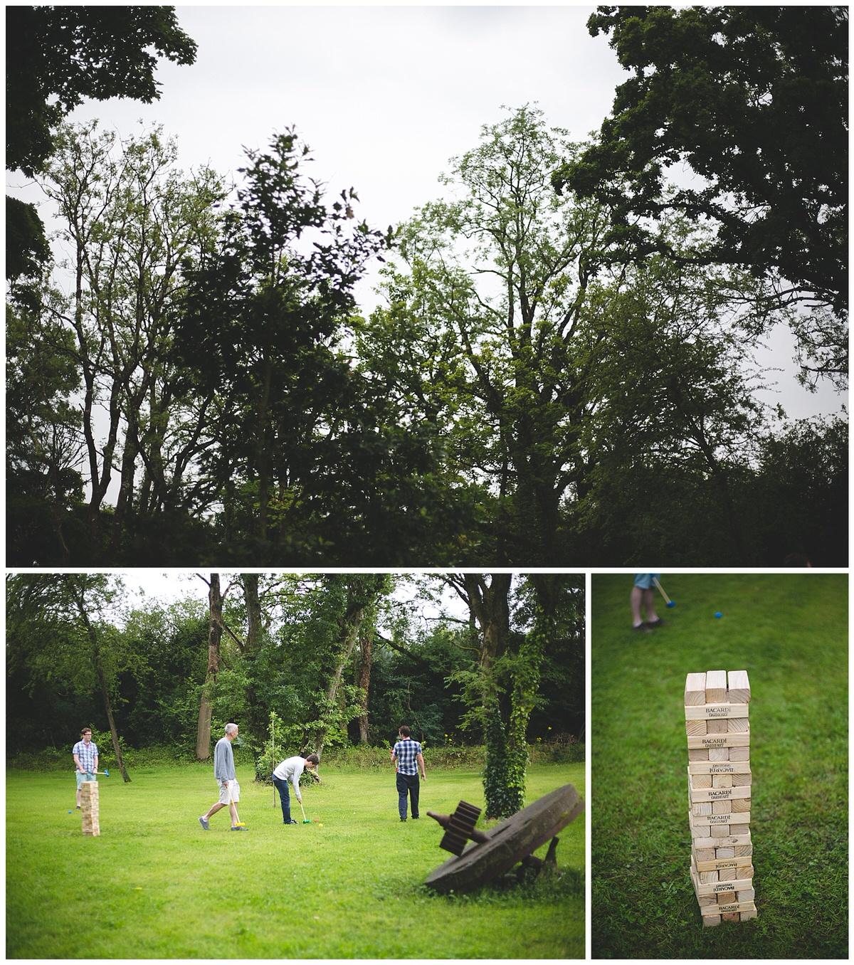 Day 2 wedding lawn games - Jenga