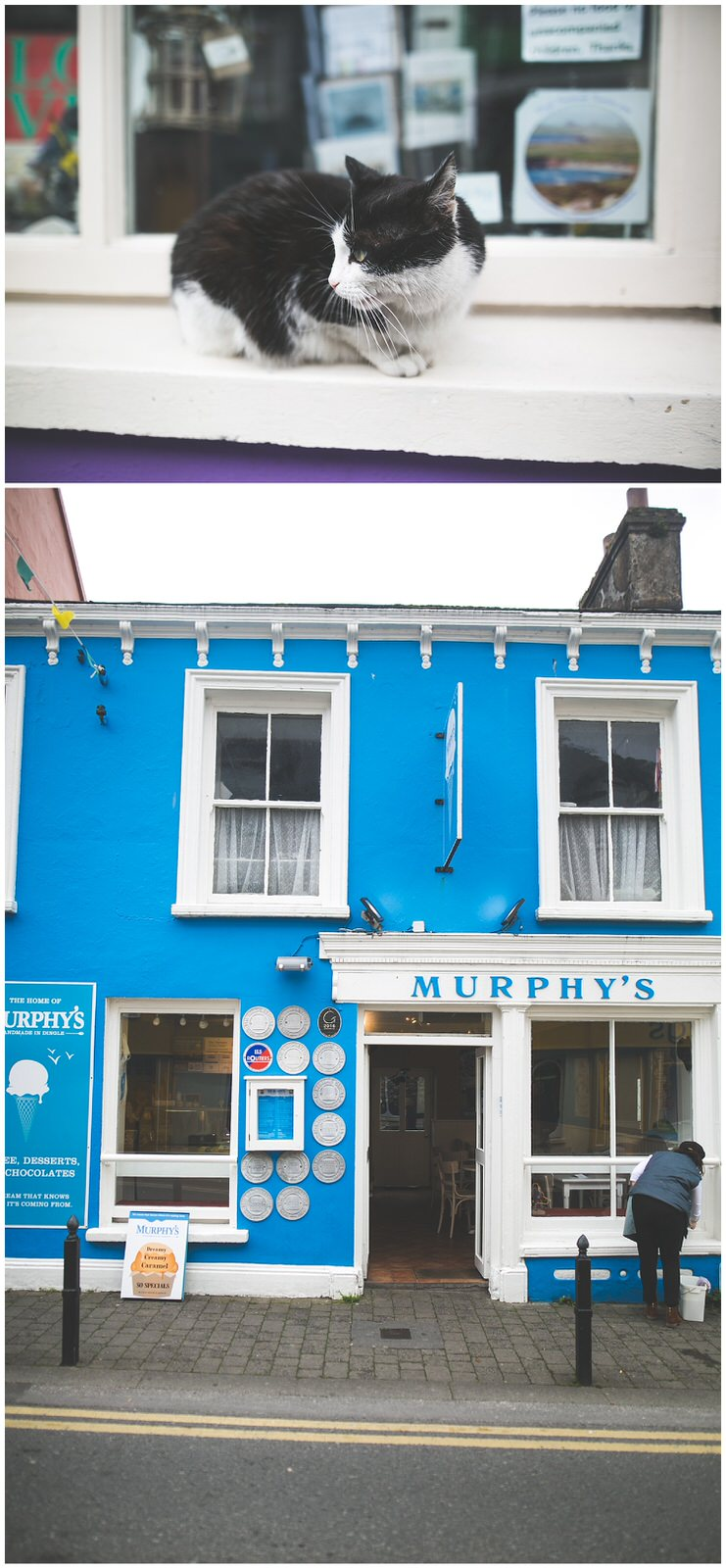The front of Murphy's Ice-cream shop in Dingle town, Keryy