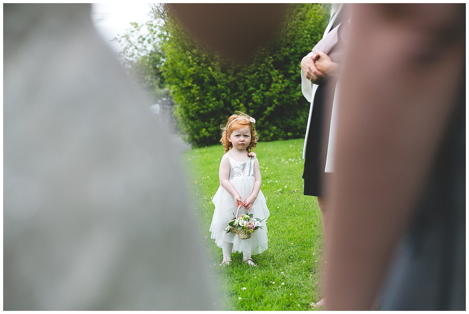 Candid shot of a cure flower girl