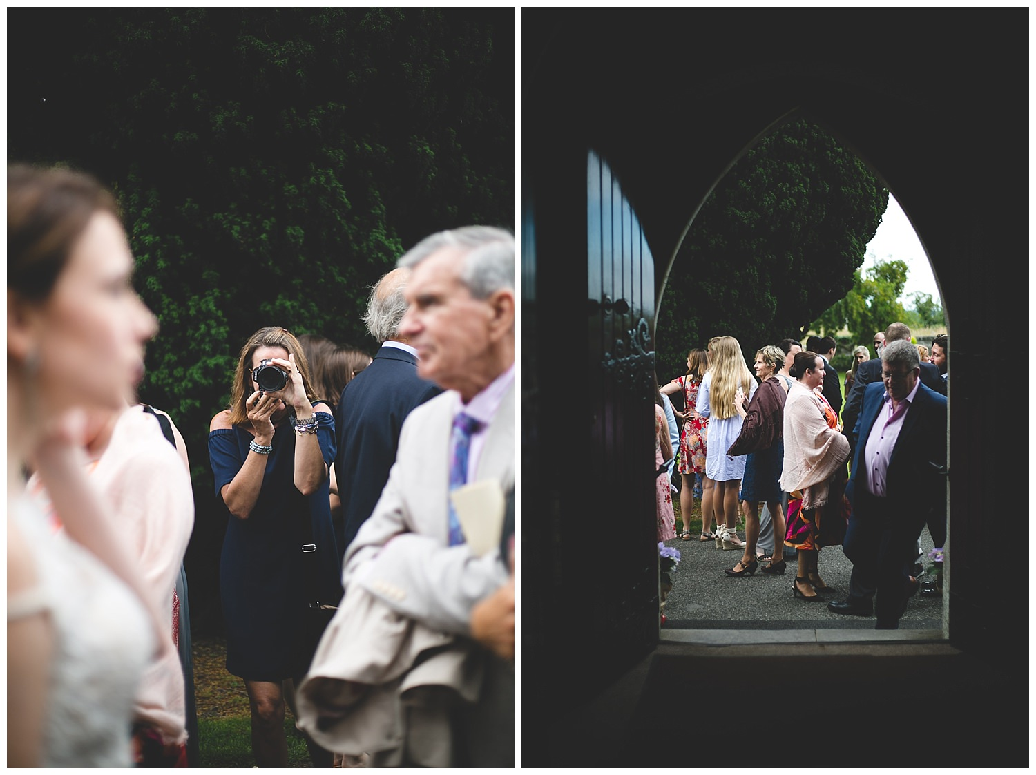Candid guest portraits at a wedding