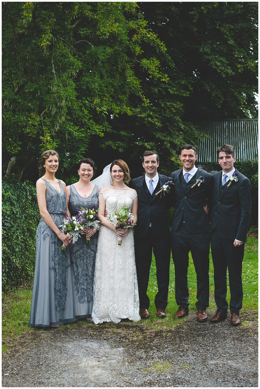 Casual outdoor bridal party portraits