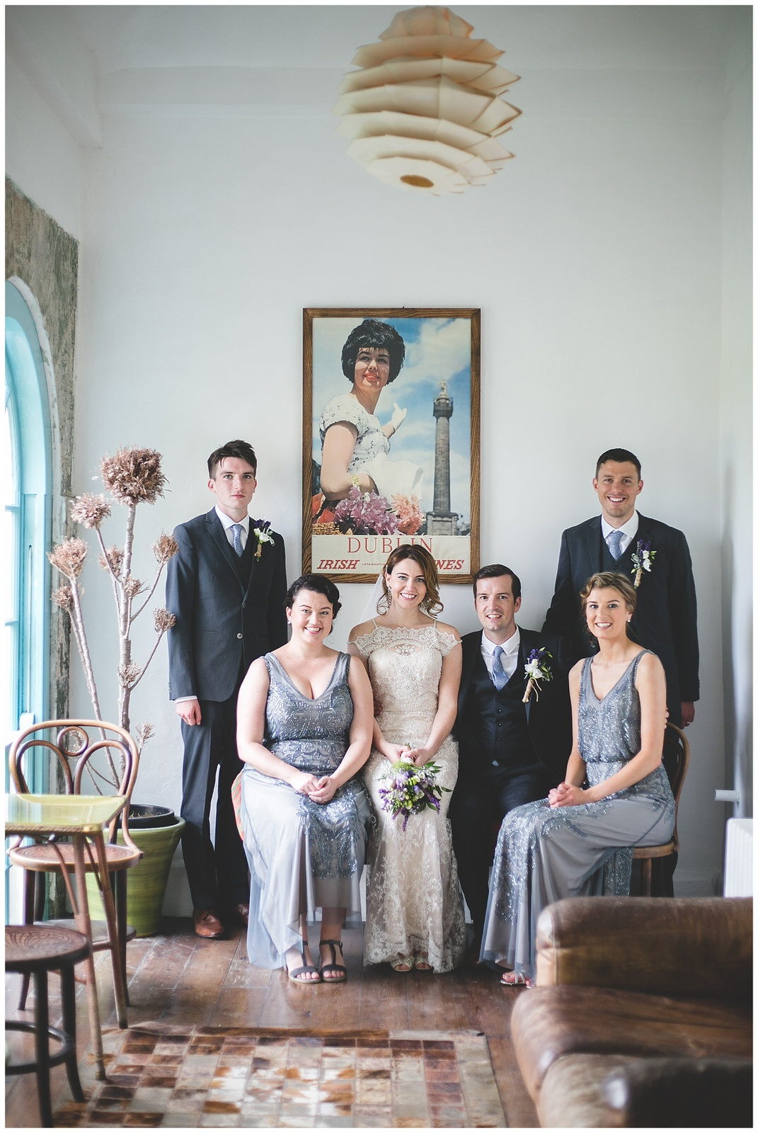 Wild things wed - wedding portraits in bellinter house funky interiors
