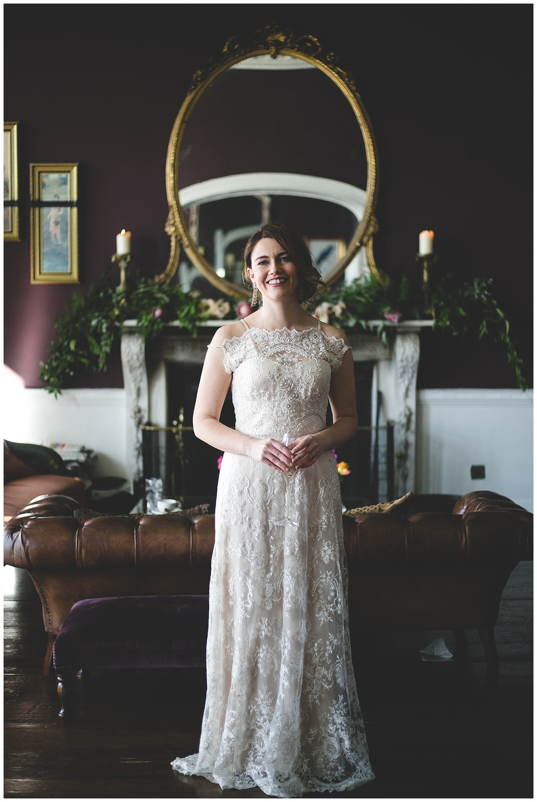 Stunning portraits of a bride in a cream sequins gown - shot by Wild Things Wed Photography