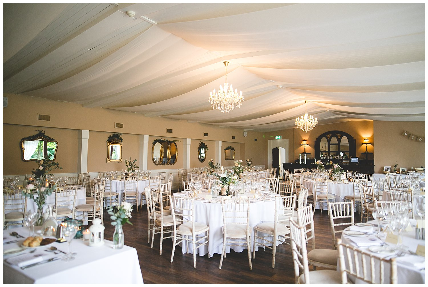 Wedding set-up in the Dining Room at Bellinter House