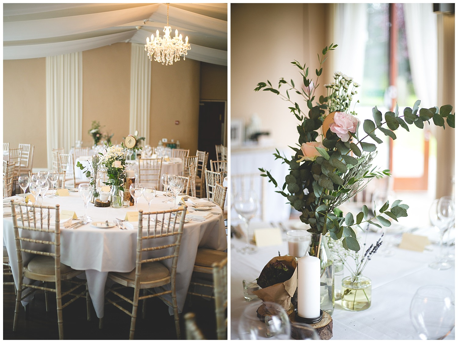 Bellinter House dinning room with beautiful wild centre pieces
