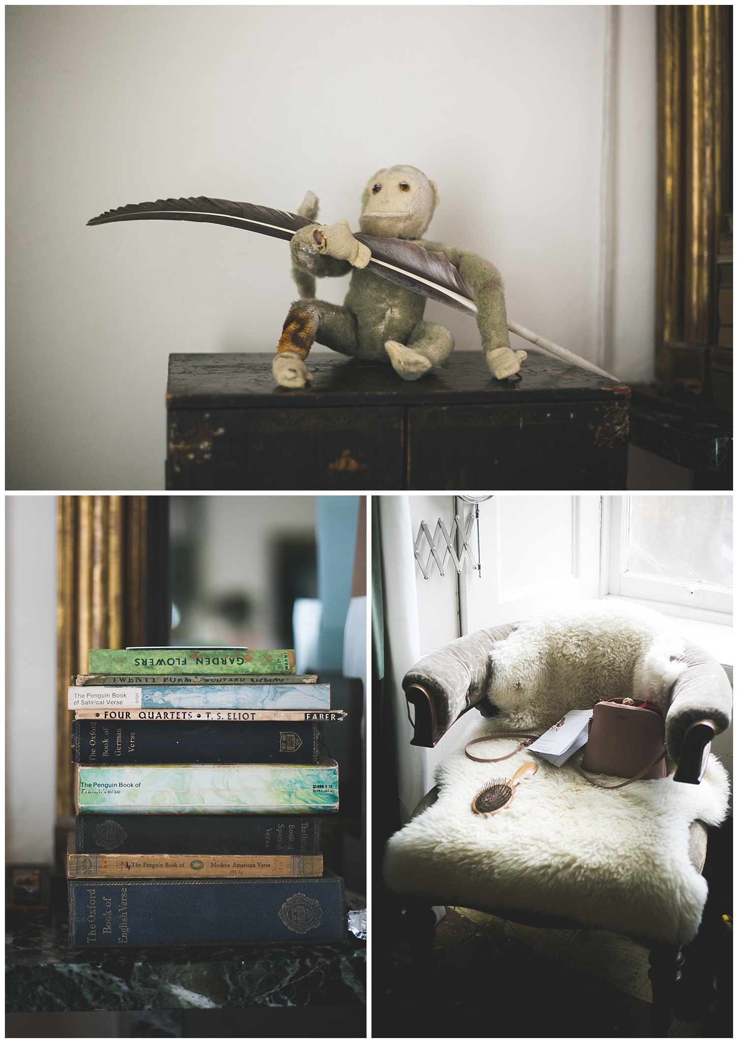 Quirky books and house decorations