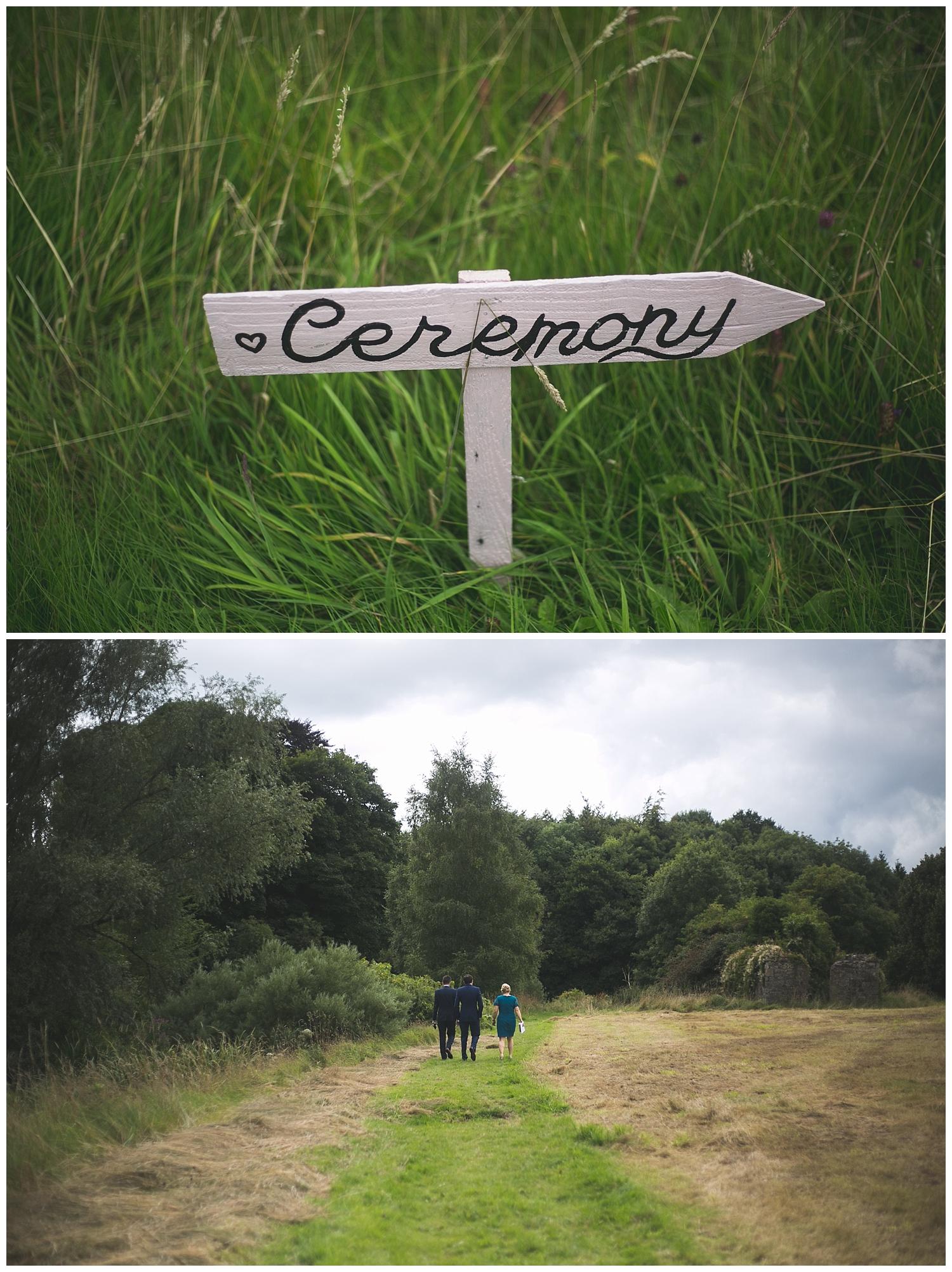 Cute DIY wedding signage
