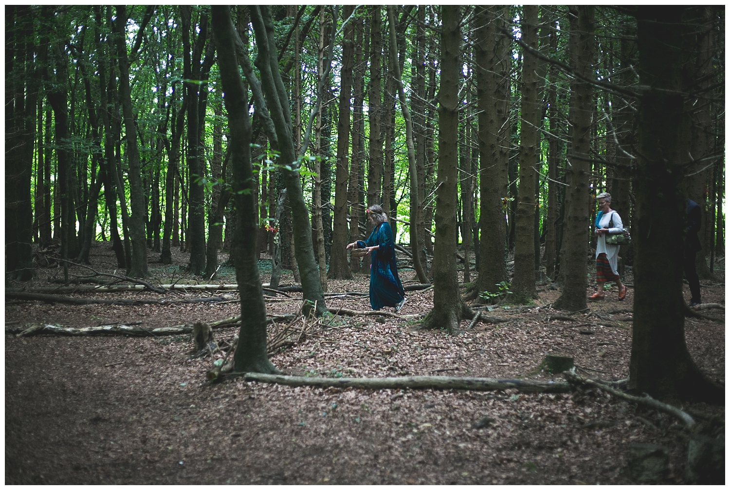 forest wedding in meath